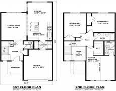 simple 2 story rectangular house plans home deco plans