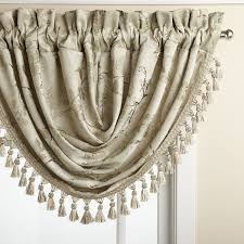 floral lustre rod pocket panel waterfall valance u2013 marburn curtains