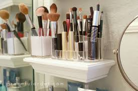 makeup storage small bathroom storage ideas wall solutons and