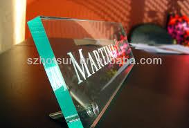 etched glass desk name plates bold design ideas glass desk name plates clear wall mount acrylic