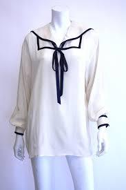 sailor blouse giorgio armani silk sailor blouse