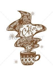decorative coffee cup design vector image 1622636 stockunlimited
