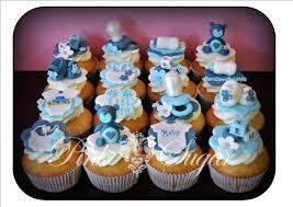 pink sugar baby boy designer cupcakes