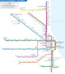 Cta Blue Line Map List Of Chicago