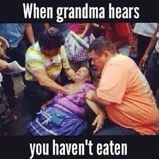 Grandma Internet Meme - no thanks grandma i m not hungry funny