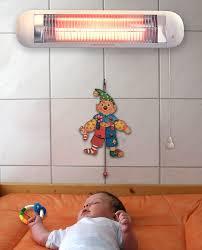 h h bs 50 heizstrahler baby mit abschaltautomatik wandmontage