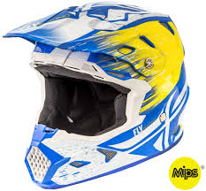 fly motocross helmet toxin resin white yellow blue helmet fly racing motocross mtb