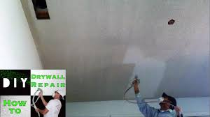 remove popcorn ceiling texture fast and easy youtube