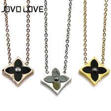 fine chain pendant necklace images Trendy birthday women square shape with flower pendant necklaces jpg
