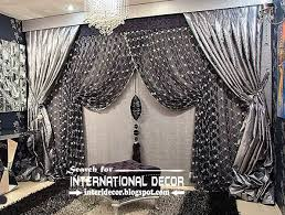 Silver Black Curtains Luxury Black And Silver Curtain Design For Living Room Curtain