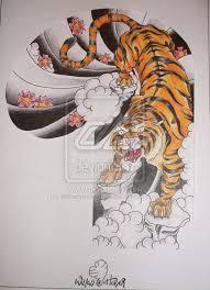 collection of 25 back outline tiger