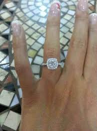 round square rings images Rounded square cut engagement rings jewelry ideas jpg