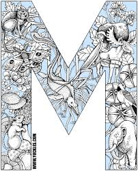 Letter M Coloring Page By Yuckles M Coloring Pages