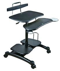 Mobile Computer Desks For Home Desks White Oak Mobile Computer Desks For Your Home Work Office