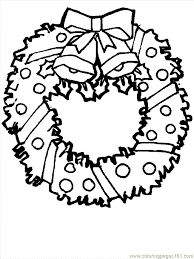 holly wreath coloring getcoloringpages