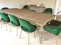 rosa beltran design sneak peek green velvet saarinen dining chairs