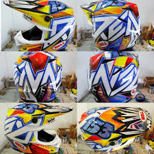 custom motocross gear any sweet custom painted helmets out there moto related