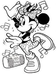 minnie mouse coloring pages music dance coloringstar