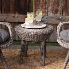 weather resistant wicker resin patio furniture set with 2 chairs