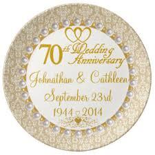 50th anniversary plate engraved custom wedding anniversary plates