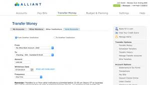 alliant credit union online banking features
