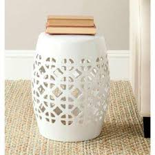 Ceramic Side Table White Outdoor Side Tables Patio Tables The Home Depot