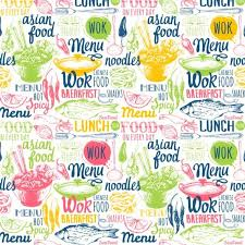 seamless pattern food food menu seamless pattern vector 06 vector food free download