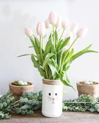 jar vase diy recycled easter bunny vases weekend craft