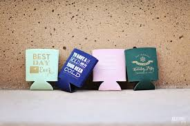 koozie wedding favor today on the bridal boutique wedding favor koozies by rook design