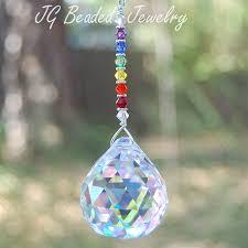 rainbow prism suncatcher by jgbeadedjewelry on etsy neat