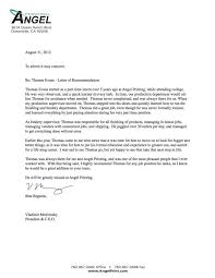 letter of recommendation format letter of recommendation format template business