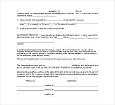 last will and testament forms 6 download free documents in pdf