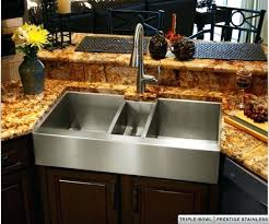 36 stainless steel farmhouse sink copper and stainless steel farmhouse sinks havens metal stainless