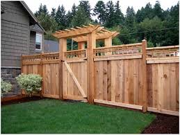 Backyard Fencing Ideas Backyards Trendy Great Creative Front Yard Fences With Fence