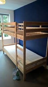 IKEA MYDAL Wooden Bunk Bed Complete With  X MALFORS Mattress - Ikea wooden bunk beds