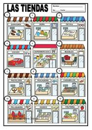 spanish activities set of blank maps for giving directions from