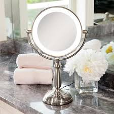 zadro lighted makeup mirror zadro 9 cordless dual sided led lighted touch vanity mirror with