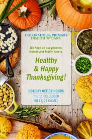 thanksgiving 2017 colorado primary health care office hours