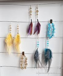 how to make feather earrings infarrantly creative