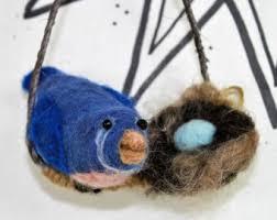 blue bird ornament etsy
