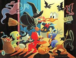 donald duck halloween in duckburg by carl barks carl barks