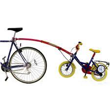 si e bebe velo trail gator tandem avec barre de remorquage de vélo enfant