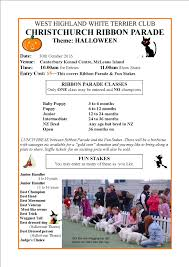 parade ribbon christchurch ribbon parade 2016 flyer west highland white