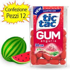 tic tac tic tac gum tastes watermelon pack 12 tic tac packs of 14 grams