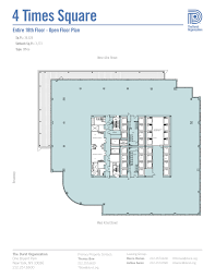 4 times square conde nast building floorplans new york city