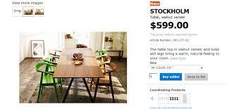 ikea stockholm dining table ikea stockholm walnut dining table martelli design furniture