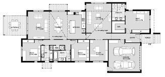 Four Bedroom House Floor Plans by Simple 4 Bedroom House Plans