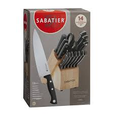 sabatier kitchen knives amazon com sabatier 14 piece stamped triple rivet knife block set