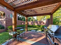 Covered Patios Designs Covered Patio For Outdoor Kitchen With Arbor Practical Covered