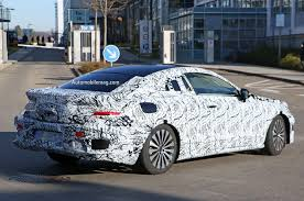2017 mercedes benz e class coupe spied with rakish roofline